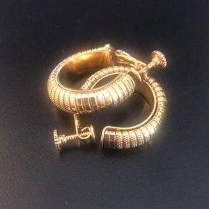Napier clip on earrings Goldtone